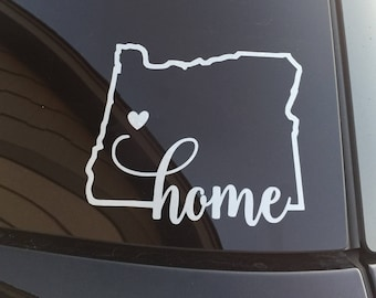 Oregon Home Car Decal // Eugene Oregon Decal, Home Sticker, Springfield Oregon Decal, Car Decal, Oregon Sticker