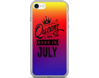 Queens Are Born in July Sunset iPhone Case | iPhone 5/5s/SE | iPhone 6/6s | iPhone 6 Plus/6s Plus |  iPhone 7 | iPhone 7 Plus