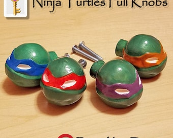 Ninja Turtles Pull Knobs Furniture Decor TMNT Home Accessories Teenage Mutant Ninja Turtles Home Decor Cabinet Knobs Drawer Pulls