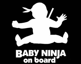Baby Ninja on board Decal