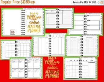 INTRO PRICE Have It Your Way 18-Month Student Academic  Digital Planner, Tabbed, Green