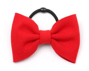 Hair bows, Red Bows, Hair Elastic, Girl Hair Bows, Big Hair Bow, Hair Bows for Girl