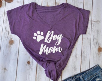 Dog Mom Shirt- Dog mom- mom of dogs- fur mama- Dog Mama- dog mom shirts- shirts for dog moms- gifts for dog lovers- dog mom top- new dog mom