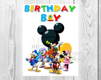 Mickey Mouse Clubhouse Birthday Iron On Shirt Transfer - Minnie Mouse tshirt printable Instant Download - Birthday Boy