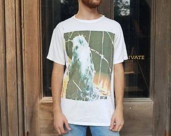 Vintage 1990s 1993 Pearl Jam Threadworm band tee Men's large distressed grunge rock t shirt