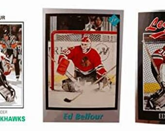 3 - Ed Belfour Odd-Ball Trading Card Lot