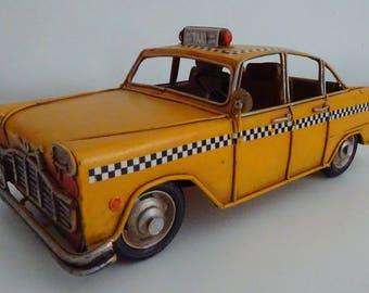 Vintage Tin Plate New York Taxi Cab