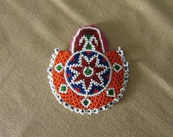 Afghan glass beaded decor