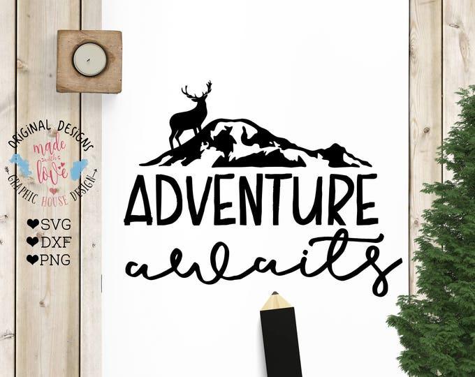 Adventure svg, adventure cut file, Adventure Awaits svg, silhouette, cricut, cut file, adventure iron on, adventure mountain svg, explore