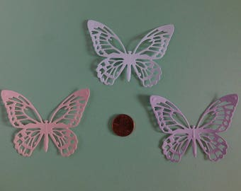 Butterfly Die Cuts 30 Baby shower, Wedding table confetti, paper embellishments, scrapbook cardmaking supplies, cupcake toppers, Baby shower