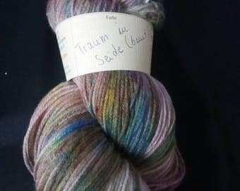"Noble knitting yarn merino/silk mixture ""dream in silk"" colorful"