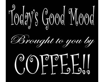 Today's good mood brought to you by coffee!!