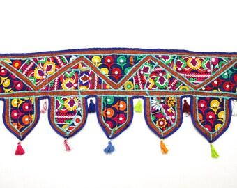 Handmade Window Door Valance Home Decor Decorative Embroidered Patchwork Toran Pelmet Topper Drapery Top Hanging Tent Decoration Art K326