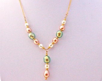 wedding necklace swarovski pearls
