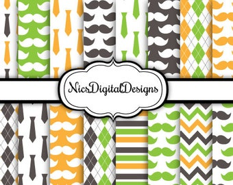 Buy 2 Get 1 Free-16 Digital Papers. Fathers Day Papers 3 (1H no 3) for Personal Use and Small Commercial Use Scrapbooking
