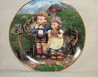 Vintage M I Hummel Country Crossroads Collector Plate