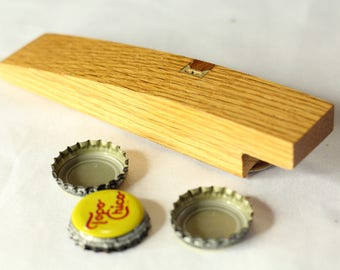 Reclaimed wooden bottle opener