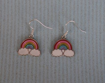 Earrings rainbow on the cloud