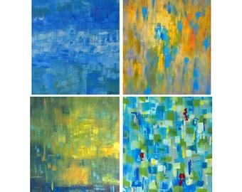 Modern Art Card Set, 8 Notecards, Blank Inside, Thank You Notes, Gift Stationary, Abstract Vibrant Cards, Original Artwork, Seattle Artist,