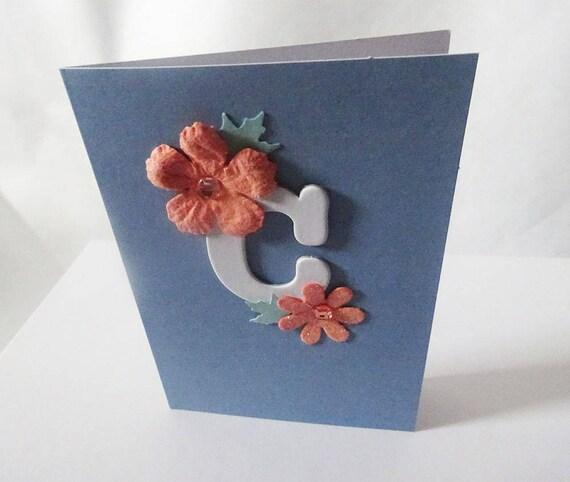 """Monogram/Initial Card - Letter """"C"""""""