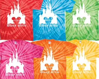Walt Disney World matching family vacation tie dye shirts 2018 t tee magic kingdom epcot hollywood studios animal kingdom clothing avatar