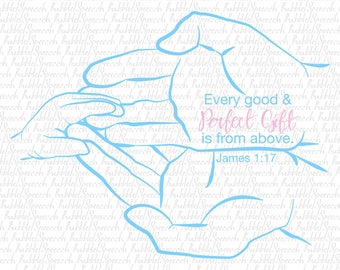 Gift from above bible verse Svg kids clip art, vector by SpeechBubble