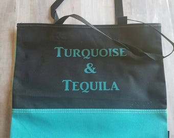 Turquoise  & Tequila  Beach Tote