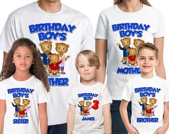 Daniel Tiger's Neighborhood Birthday Shirt Personalize Add Name & Age Daniel Tiger Custom Birthday Party Shirt