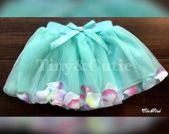 TuTu Skirt for girl, toddler tutu skirt, Birthday TuTu Skirt, TuTu Skirt With Petals!!!!!