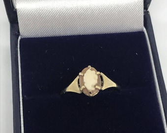 World's smallest Cameo ring - 9ct gold