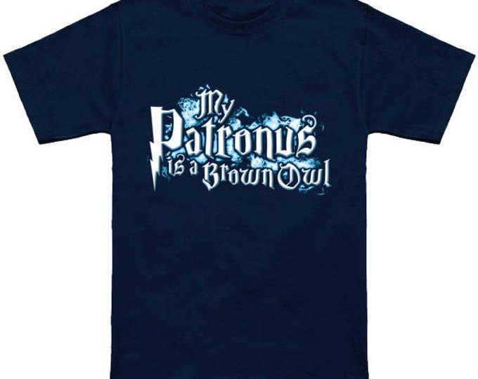My PATRONUS Is A BROWN OWL Custom T-Shirt Magic Animal Charm Fantastic Beasts Wizard Spell Fantasy Shirt