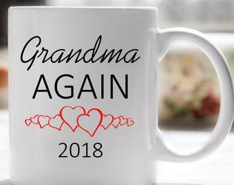 Grandma Again Coffee Mug, Grandma Coffee Mug, Pregnancy Reveal, Gift for Grandma