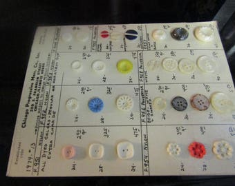 Large Card of Buttons - Vintage