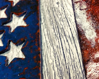 American flag wall art  - Solid steel and reclaimed wood - very large wall art - Pallet wall art - Rustic - Rusted -distressed - shabby chic