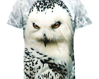 Snowy Owl of Winter All Over Adult T-Shirt