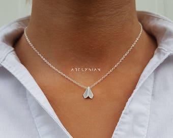 Paper plane necklace, Airplane necklace, airplane jewelry, plane necklace, airplane charm, pilot necklace, air plane necklace, airplane matt