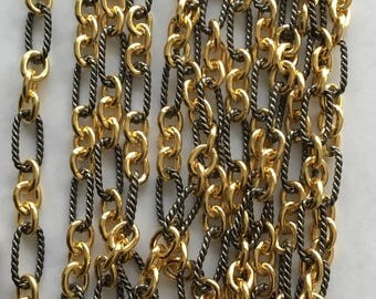 Sterling silver two tone bulk chain