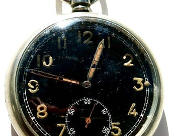 WW2 era British military issue General Service Mk II Moeris  pocket watch