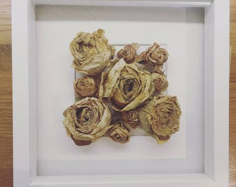 Dried Wedding Flowers in 3D Frame
