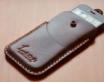 Vintage Genuine leather case for iPhone 6, 7, 8, Х. Samsung S8.