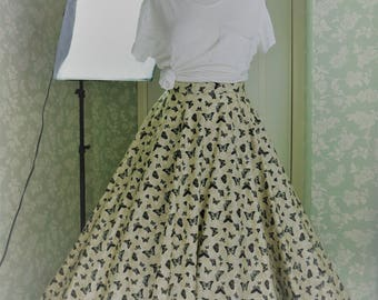 Butterflies long circle skirt