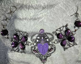 Silver and Amethyst bracelet