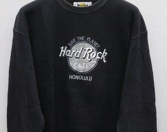 10% DISCOUNT Vintage HARD ROCK Cafe Save The Planet Honolulu Sweater Sweatshirt