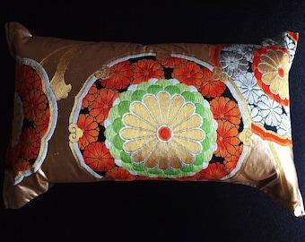 Cushion of Obi (Kimono) Japanese Silk  0000099