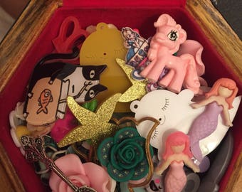BULK LOT: Cabochon/Pearls for Decoden/Jewellery Making - kawaii, flower and goth pieces