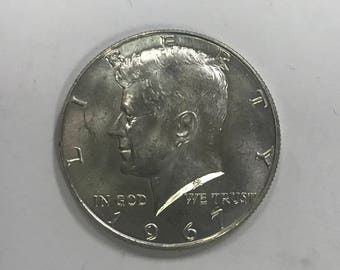 1967 40% Silver Kennedy Half Dollar Circulated