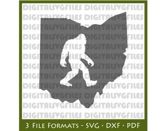 Ohio State Bigfoot svg, Ohio Bigfoot dxf, Bigfoot svg, Ohio State Vector svg File, Ohio State Bigfoot Vecto, Ohio State svg, Ohio Vector