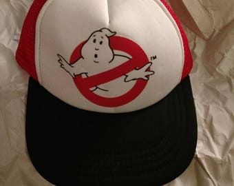 1980's mesh truckers hat ghostbusters