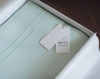 EMBRACE mint 3 pc organic baby bedding set, 100 % linen baby bedding set for boys, for girls and neutral baby bedding, crib, toddler bedding