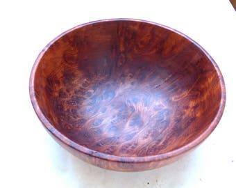 Wood Turned Redwood Burl Bowl
